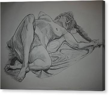 Reclining Female Nude Canvas Print