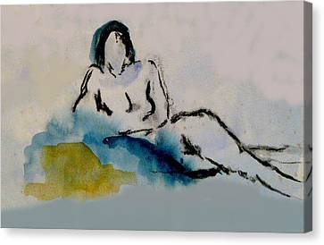 Reclining Figure Canvas Print by James Gallagher
