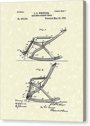 Reclining Rocker 1892 Patent Art Canvas Print