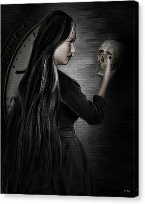 Recognition Of Death Canvas Print by Lourry Legarde