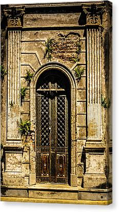 Canvas Print featuring the photograph Recoleta Crypt Door by Rob Tullis
