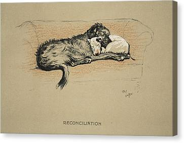 Reconciliation, 1930, 1st Edition Canvas Print by Cecil Charles Windsor Aldin