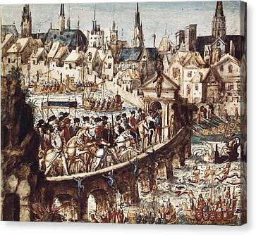 Catherine De Medicis Canvas Print - Reconstruction Of Village And Brazilian by Everett