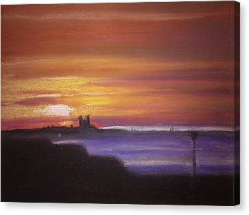 Reculver Sunset Canvas Print by Paul Mitchell