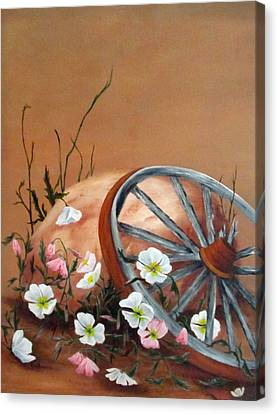 Canvas Print featuring the painting Recycled by Roseann Gilmore