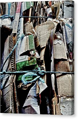 Cardboard Canvas Print - Recycler by Odd Jeppesen