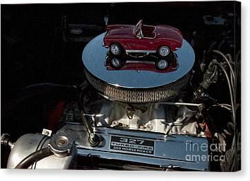 Red 1962 Chevrolet Corvette - Engine 327 - 300 Canvas Print by Liane Wright