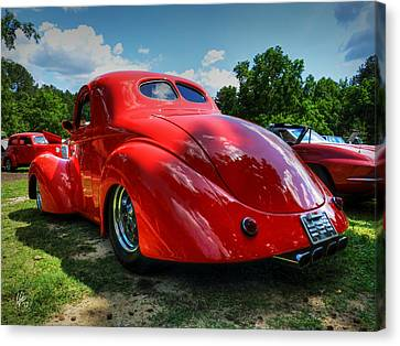 Red '41 Willys Coupe 003 Canvas Print