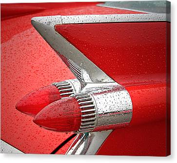 Red '59 Caddy Tail Canvas Print by Christopher McKenzie