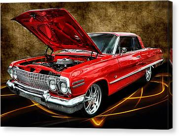Red '63 Impala Canvas Print