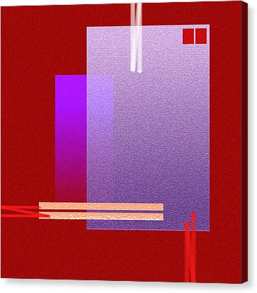 Red Abstract 2 Canvas Print by Anil Nene