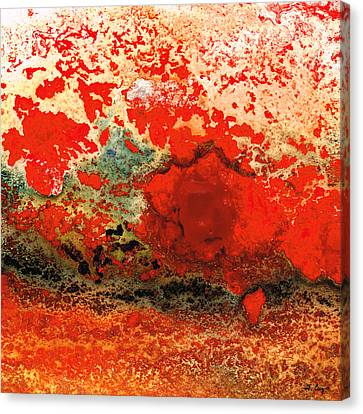 Red Abstract Art - Lava - By Sharon Cummings Canvas Print