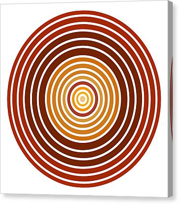Red Abstract Circle Canvas Print by Frank Tschakert