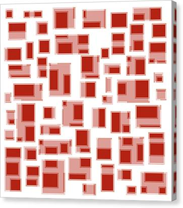 Shades Of Red Canvas Print - Red Abstract Rectangles by Frank Tschakert