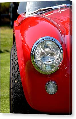 Canvas Print featuring the photograph Red Ac Cobra by Dean Ferreira
