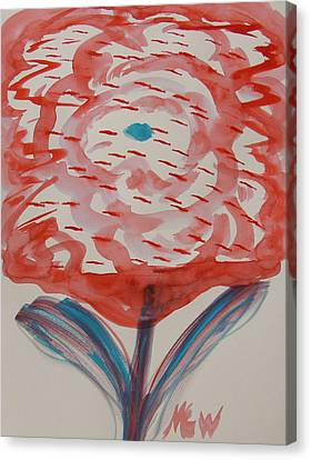 Red And Baby Blue Canvas Print by Mary Carol Williams