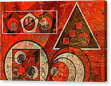 Red And Black Abstract Canvas Print by Ally  White