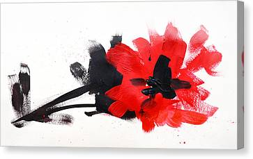 Interior Still Life Canvas Print - Red And Black Floral II by Patricia Awapara