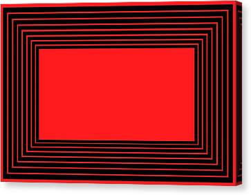 Red And Black Illusion Canvas Print by Chastity Hoff
