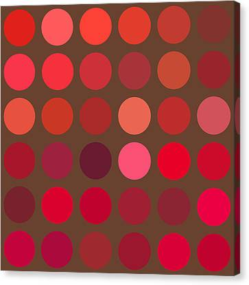Red And Brown Canvas Print by Lisa Noneman