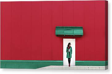 Red And Green Canvas Print