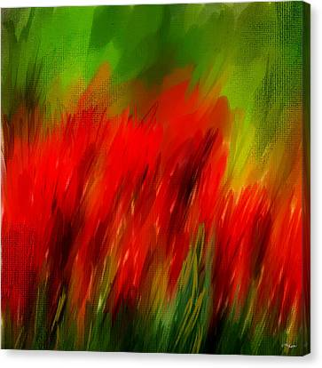 Red And Green Canvas Print by Lourry Legarde