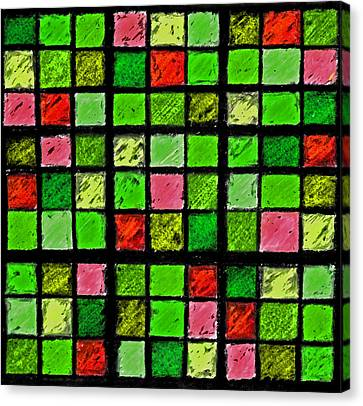 Red And Green Sudoku Canvas Print by Karen Adams