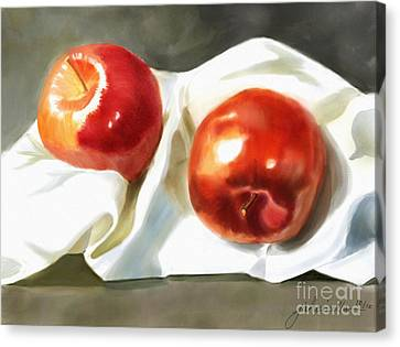 Red And Juicy Canvas Print by Joan A Hamilton
