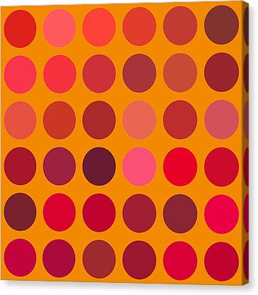 Red And Orange Canvas Print by Lisa Noneman