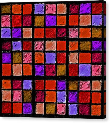 Red And Orange Sudoku Canvas Print by Karen Adams