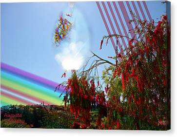 Red And Rainbow Canvas Print