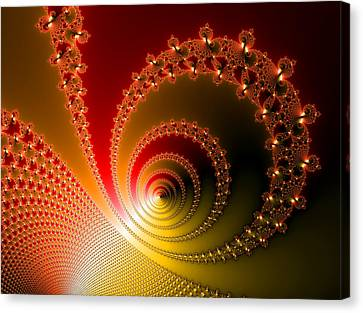 Red And Yellow Abstract Fractal Canvas Print by Matthias Hauser