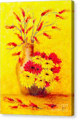 Red And Yellow Flower Canvas Print by Martin Capek