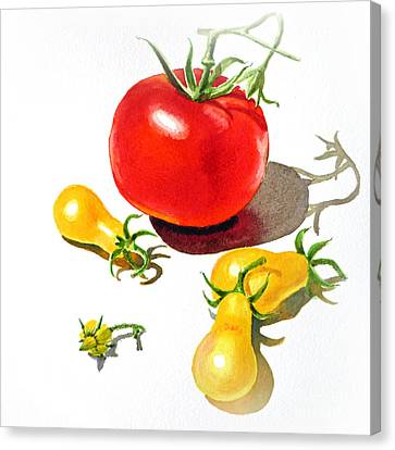 Red And Yellow Tomatoes Canvas Print by Irina Sztukowski