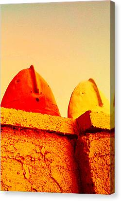 Red And Yellow Vigils  Canvas Print by Mark M  Mellon