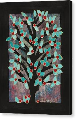 Red Apple Tree Canvas Print by Barbara St Jean
