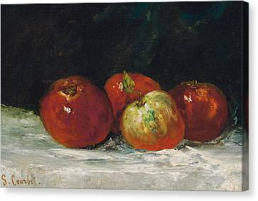 Red Apples Canvas Print by Gustave Courbet
