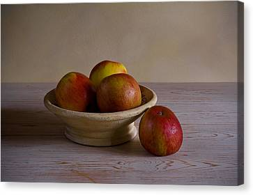 Canvas Print featuring the photograph Red Apples by Trevor Chriss
