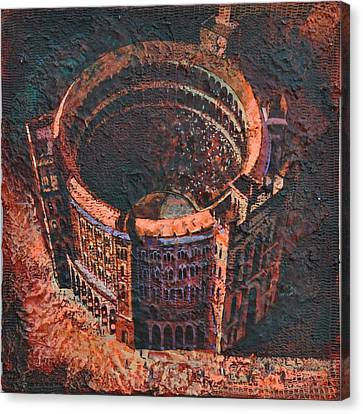 Canvas Print featuring the painting Red Arena by Mark Howard Jones