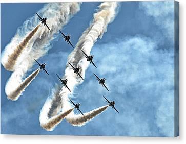 Jet Canvas Print - Red Arrows by Rafa? Czernia