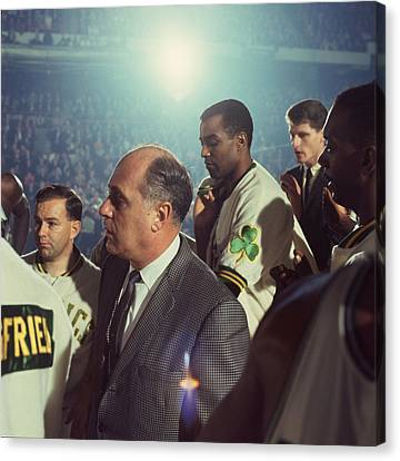 Red Auerbach Boston Celtics Legend Canvas Print by Retro Images Archive