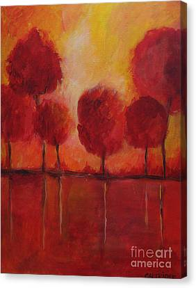 Red Autumn Canvas Print by Alison Caltrider