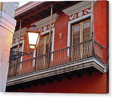 Red Balcony Canvas Print