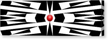 Red Ball 9 Panoramic Canvas Print by Mike McGlothlen