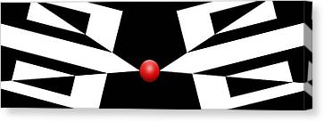Red Ball 11 H Panoramic Canvas Print by Mike McGlothlen