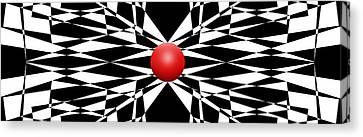 Red Ball 16 Panoramic Canvas Print by Mike McGlothlen
