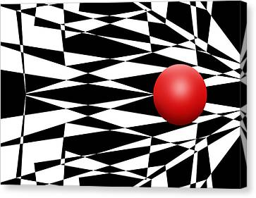 Red Ball 17 Canvas Print by Mike McGlothlen