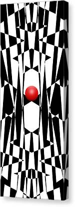 Red Ball 20 V Panoramic Canvas Print by Mike McGlothlen