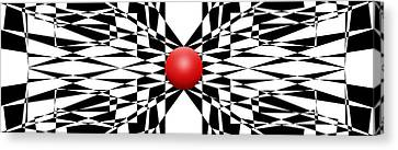 Red Ball 22 Panoramic Canvas Print by Mike McGlothlen