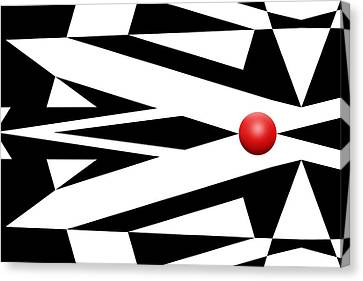 Red Ball 26 Canvas Print by Mike McGlothlen